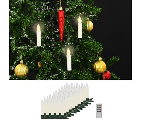 vidaXL Lumânări LED wireless cu telecomandă 50 buc. alb cald[1/8]