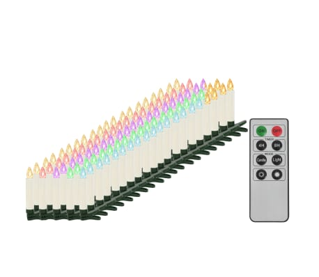 vidaXL Vánoční bezdrátové LED svíčky s dálkovým ovládáním 100 ks RGB