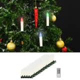 vidaXL Vianočné bezdrôtové LED sviečky s diaľkovým ovládaním 100 ks RGB