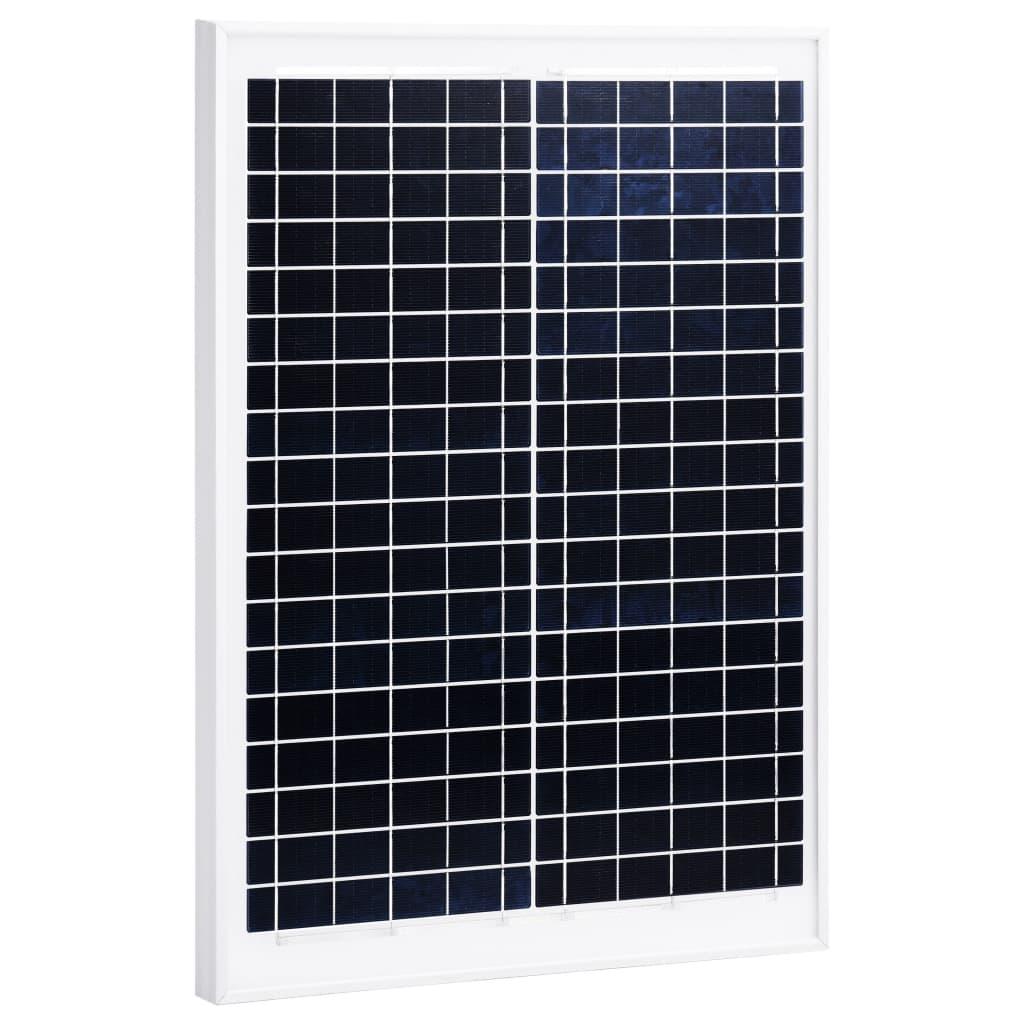 vidaXL Solární panel 20 W polykrystalický hliník a bezpečnostní sklo