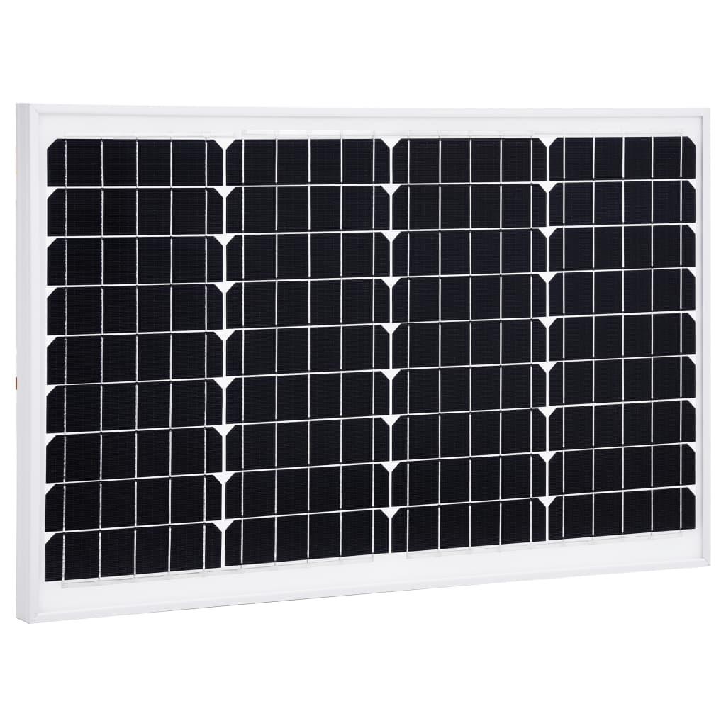 vidaXL Solární panel 40 W monokrystalický hliník a bezpečnostní sklo