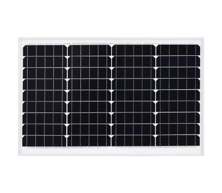 vidaXL Saulės energijos plokštė, aliuminis, apsauginis stiklas, 40W[3/9]