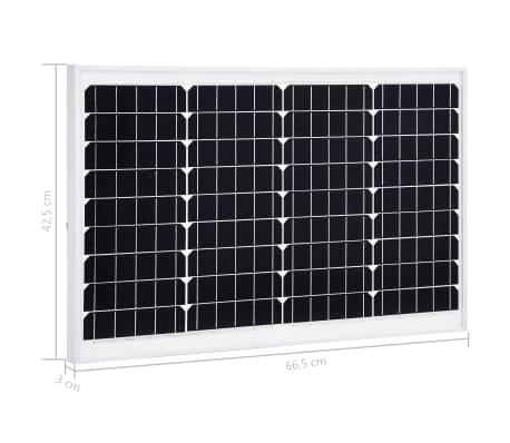 vidaXL Saulės energijos plokštė, aliuminis, apsauginis stiklas, 40W[9/9]