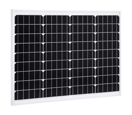 vidaXL Saulės energijos plokštė, aliuminis, stiklas, monokr., 50W[1/9]