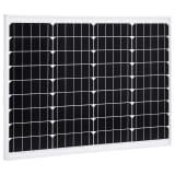 vidaXL päikesepaneel 50 W monokristalliline alumiinium ja turvaklaas