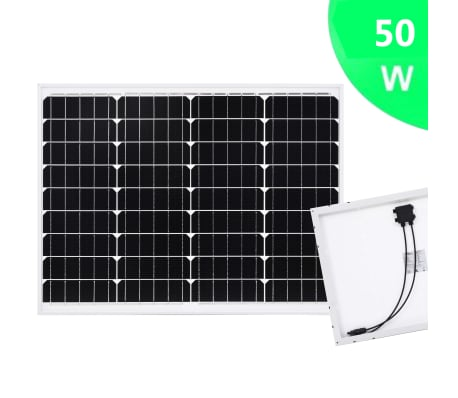 vidaXL solcellepanel 50 W aluminium og sikkerhedsglas[2/9]