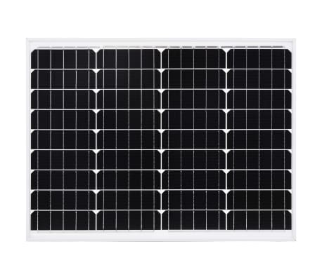 vidaXL solcellepanel 50 W aluminium og sikkerhedsglas[3/9]