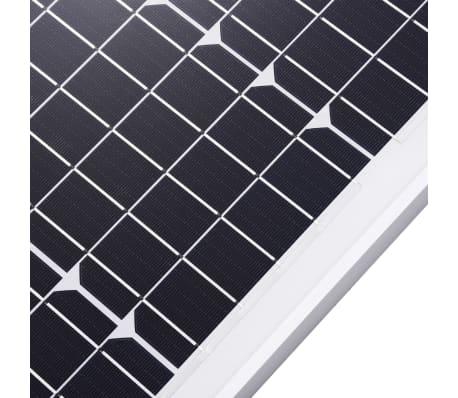 vidaXL Saulės energijos plokštė, aliuminis, stiklas, monokr., 50W[5/9]