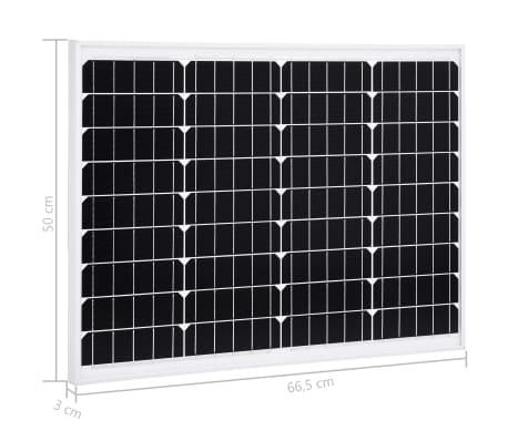 vidaXL Saulės energijos plokštė, aliuminis, stiklas, monokr., 50W[9/9]