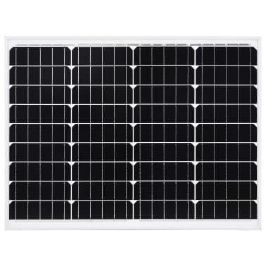 vidaXL Saulės energijos plokštė, aliuminis, stiklas, monokr., 50W[3/9]