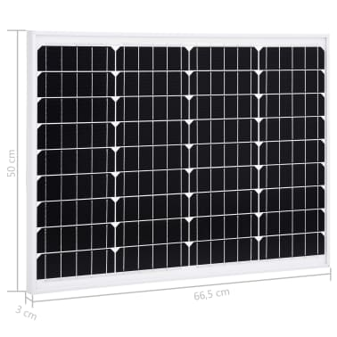 vidaXL solcellepanel 50 W aluminium og sikkerhedsglas[9/9]
