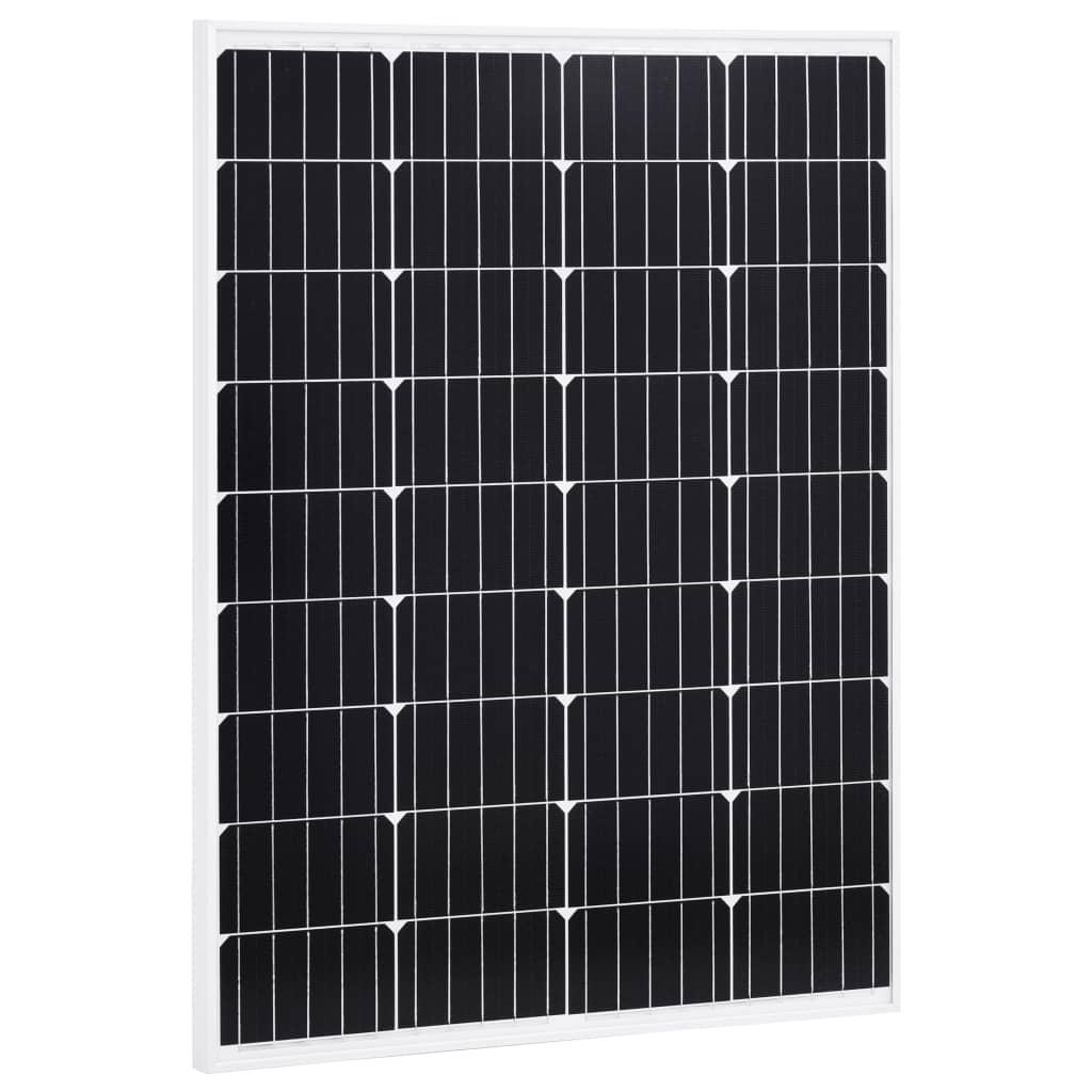 vidaXL Solární panel 100 W hliník a bezpečnostní sklo