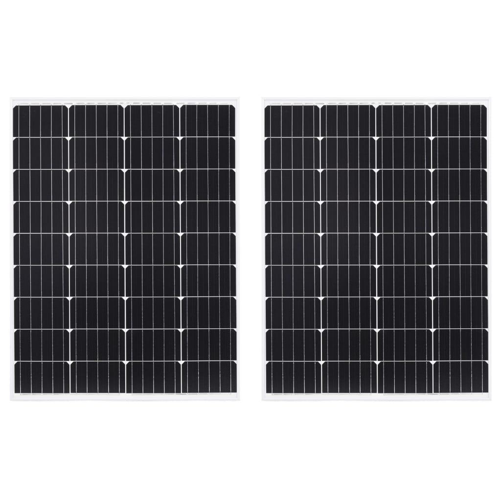 vidaXL Panouri solare, 2 buc., 100 W, aluminiu monocristalin & sticlă poza vidaxl.ro