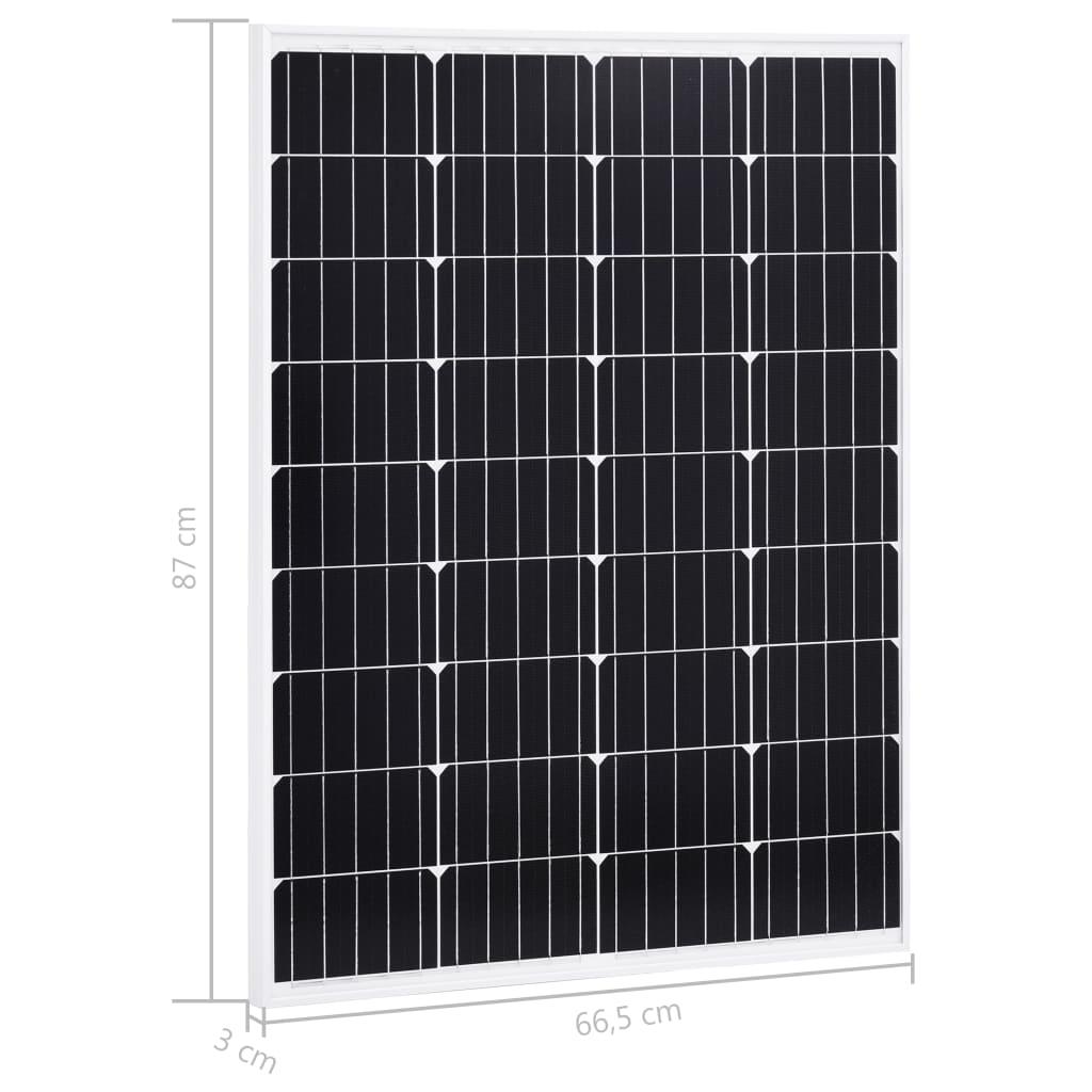 Päikesepaneelid 2 tk 100 W alumiinium ja turvaklaas