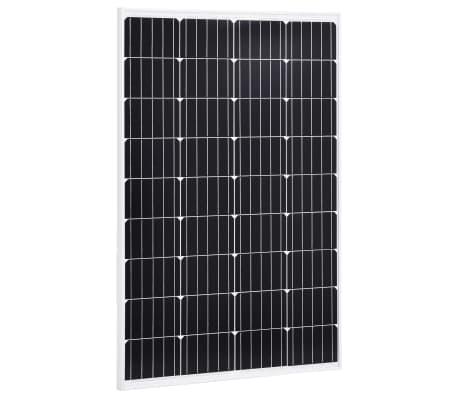 vidaXL Saulės energijos plokštė, aliuminis, stiklas, monokr., 120W[1/9]