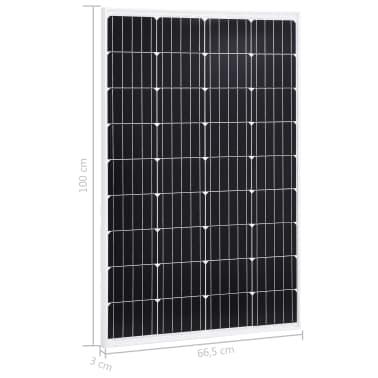 vidaXL Saulės energijos plokštė, aliuminis, stiklas, monokr., 120W[9/9]