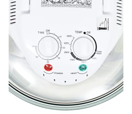 vidaXL Halogen Convection Oven with Extension Ring 1400 W 17.9 Quart[8/8]