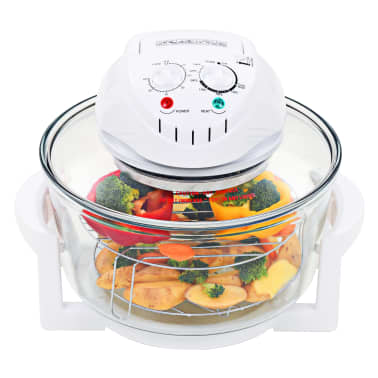 vidaXL Halogen Convection Oven with Extension Ring 1400 W 17.9 Quart[1/8]