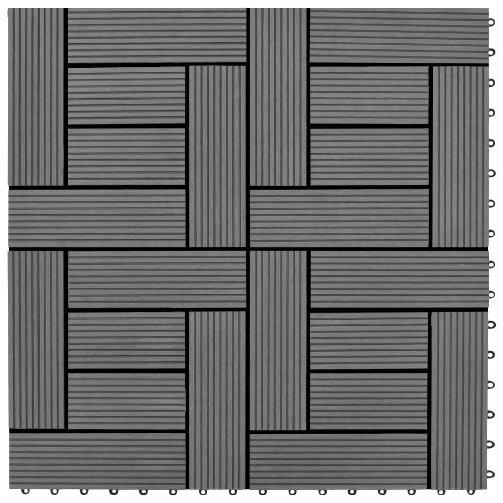 vidaXL Plăci de pardoseală, 22 buc., gri, 30 x 30 cm, WPC, 2 mp vidaxl.ro