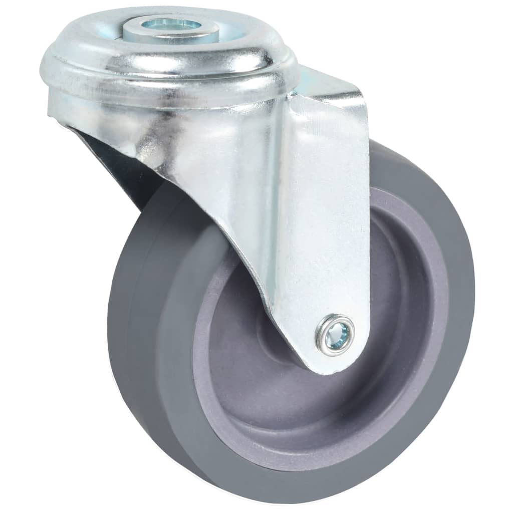 vidaXL 24 st Zwenkwielen met boutgaten 75 mm