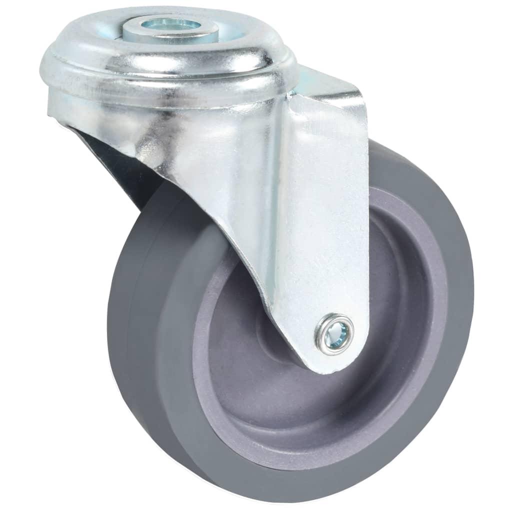 vidaXL 32 st Zwenkwielen met boutgaten 75 mm