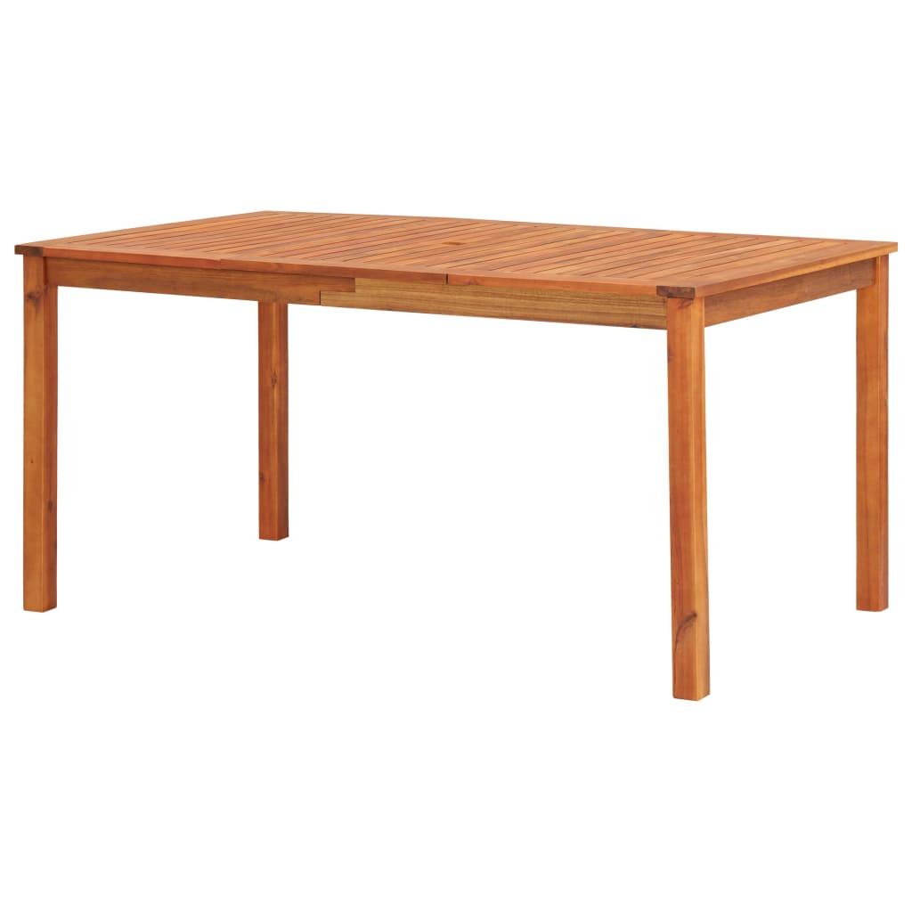 vidaXL Stół ogrodowy, 150x90x74 cm, lite drewno akacjowe