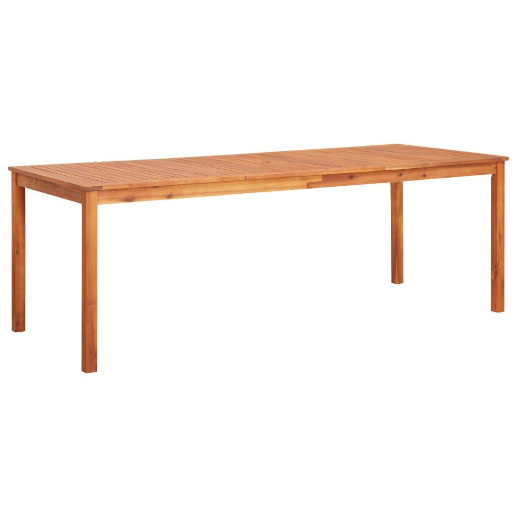 vidaXL Stół ogrodowy, 215x90x74 cm, lite drewno akacjowe