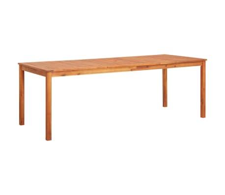 vidaXL Masă de grădină, 215 x 90 x 74 cm, lemn masiv de acacia