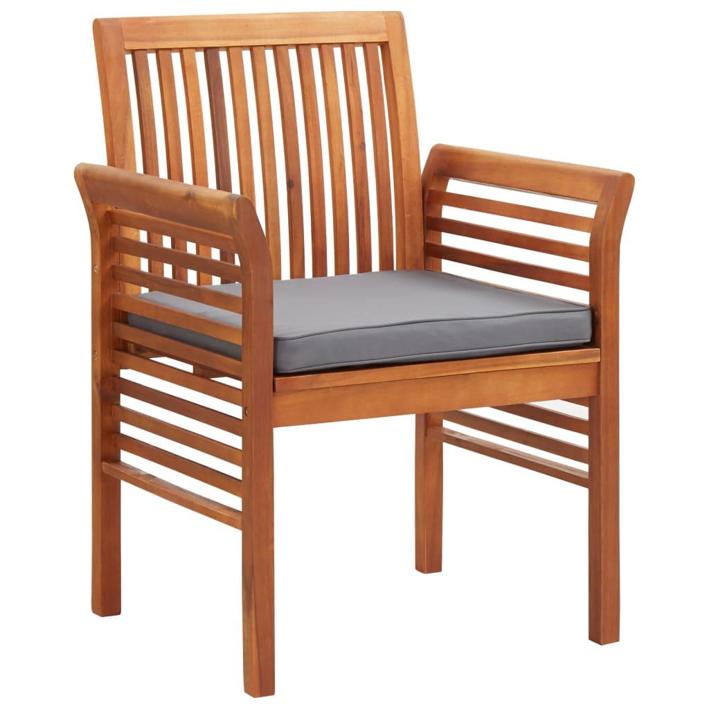 vidaXL Zahradní jídelní židle s poduškou masivní akáciové dřevo