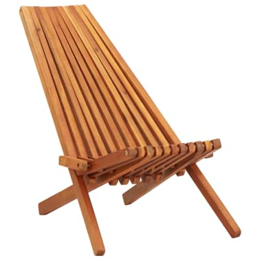 vidaXL Folding Outdoor Lounge Chairs 2 pcs Solid Acacia Wood[2/9]