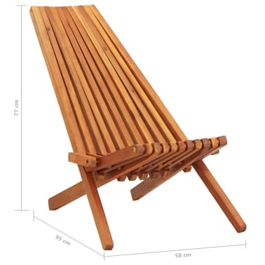 vidaXL Folding Outdoor Lounge Chairs 2 pcs Solid Acacia Wood[9/9]