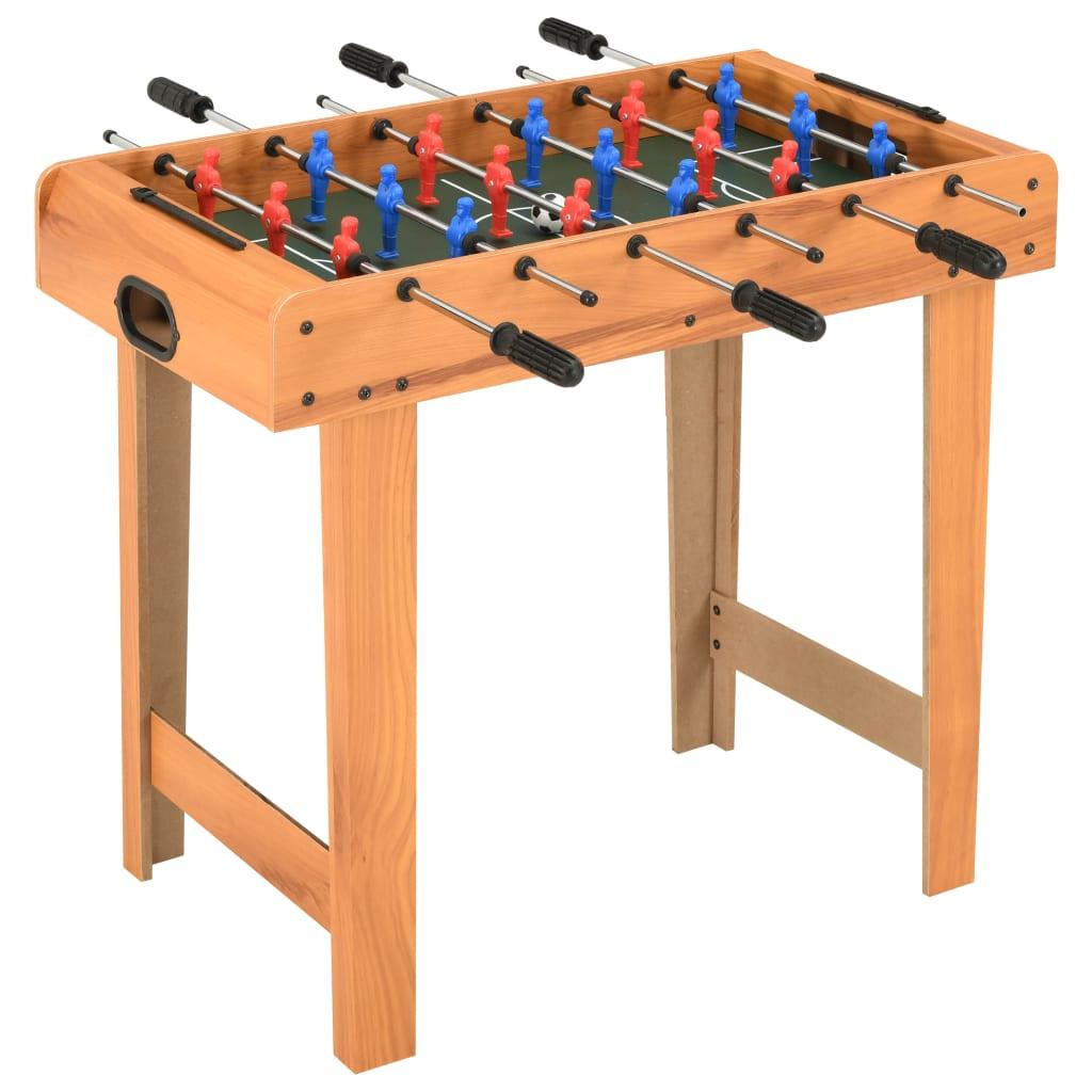 vidaXL Mini masă de fotbal, 69 x 37 x 62 cm, arțar poza 2021 vidaXL