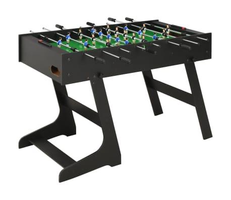 vidaXL Skladací stolný futbal čierny 121x61x80 cm