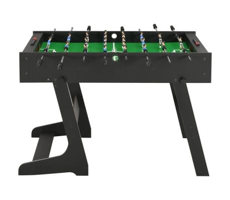 vidaXL Sulankstomas stalo futbolo stalas, 121x61x80cm, juodas[2/11]