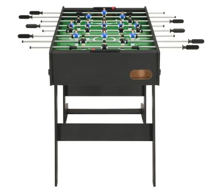 vidaXL Sulankstomas stalo futbolo stalas, 121x61x80cm, juodas[3/11]