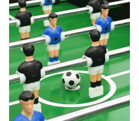 vidaXL Sulankstomas stalo futbolo stalas, 121x61x80cm, juodas[9/11]