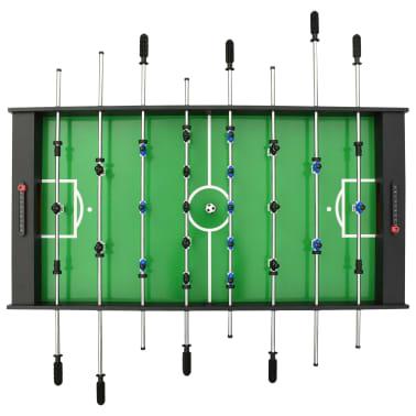 vidaXL Sulankstomas stalo futbolo stalas, 121x61x80cm, juodas[5/11]
