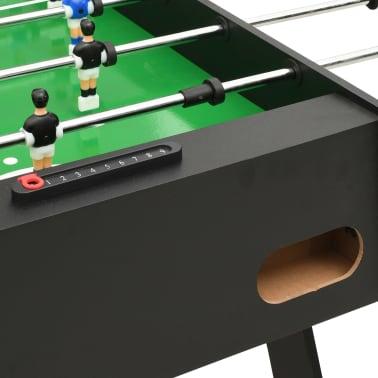 vidaXL Sulankstomas stalo futbolo stalas, 121x61x80cm, juodas[6/11]