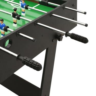 vidaXL Sulankstomas stalo futbolo stalas, 121x61x80cm, juodas[7/11]