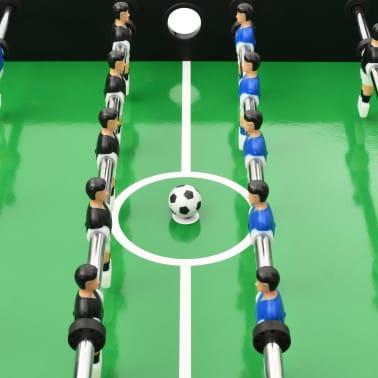 vidaXL Sulankstomas stalo futbolo stalas, 121x61x80cm, juodas[8/11]