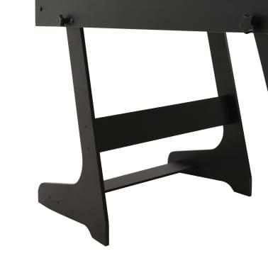 vidaXL Sulankstomas stalo futbolo stalas, 121x61x80cm, juodas[10/11]