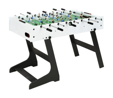 vidaXL foldbart bordfodboldbord 121 x 61 x 80 cm hvid