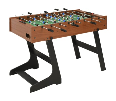 vidaXL Folding Football Table 121x61x80 cm Brown