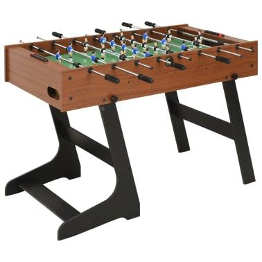 vidaXL Sulankstomas stalo futbolo stalas, 121x61x80cm, rudas[1/11]