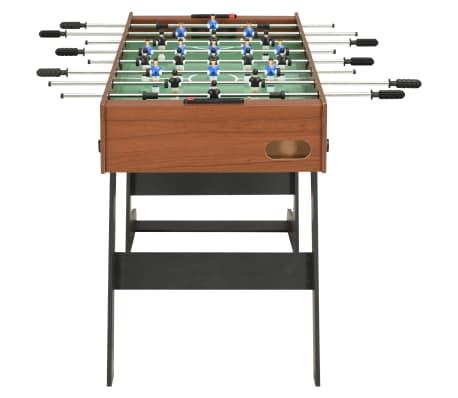 vidaXL Sulankstomas stalo futbolo stalas, 121x61x80cm, rudas[3/11]