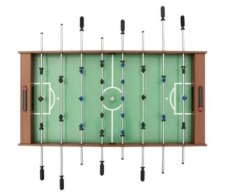 vidaXL Sulankstomas stalo futbolo stalas, 121x61x80cm, rudas[5/11]