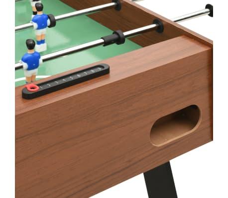 vidaXL Sulankstomas stalo futbolo stalas, 121x61x80cm, rudas[7/11]