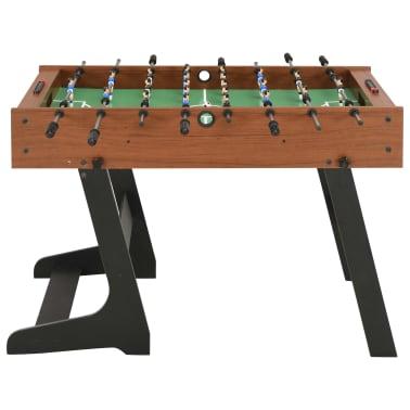 vidaXL Sulankstomas stalo futbolo stalas, 121x61x80cm, rudas[2/11]