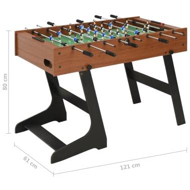 vidaXL Sulankstomas stalo futbolo stalas, 121x61x80cm, rudas[11/11]
