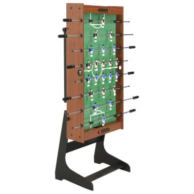 vidaXL Sulankstomas stalo futbolo stalas, 121x61x80cm, rudas[4/11]